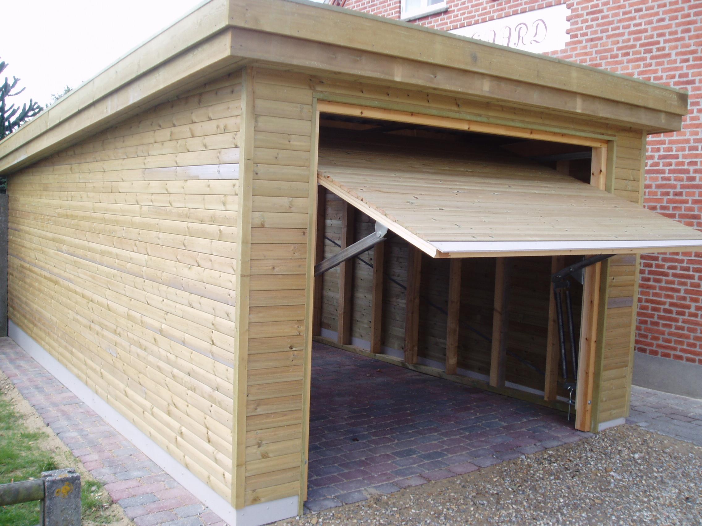 garage med skur