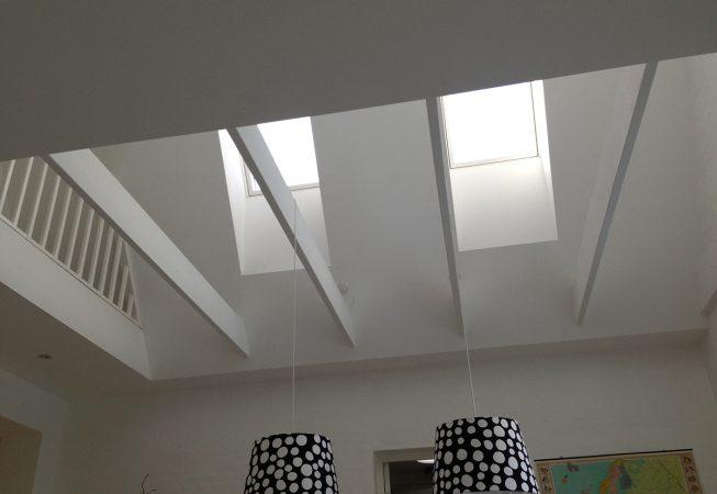 Nyt loft med ovenlysvindue lavet af Tømrer- & Snedkerfirma Øllgaard i Esbjerg